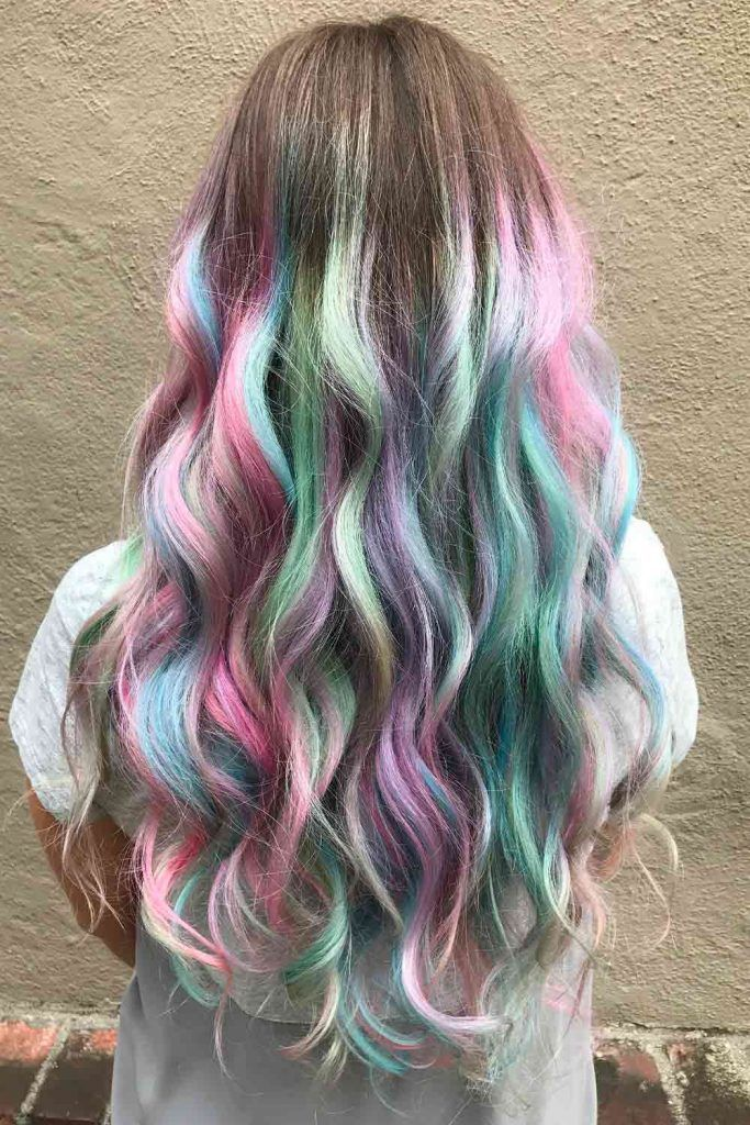 Iridescent Glacier Holographic Hair