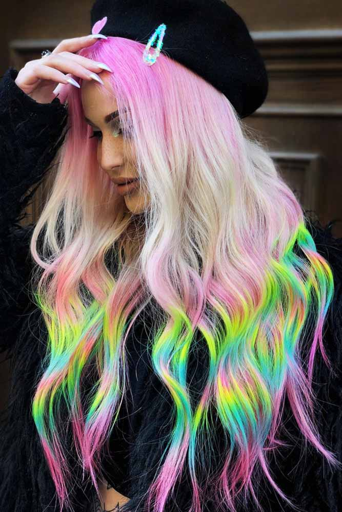 Neon Holographic #holographichair #greenhair