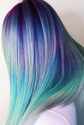 Northern Lights #holographichair #bluehair