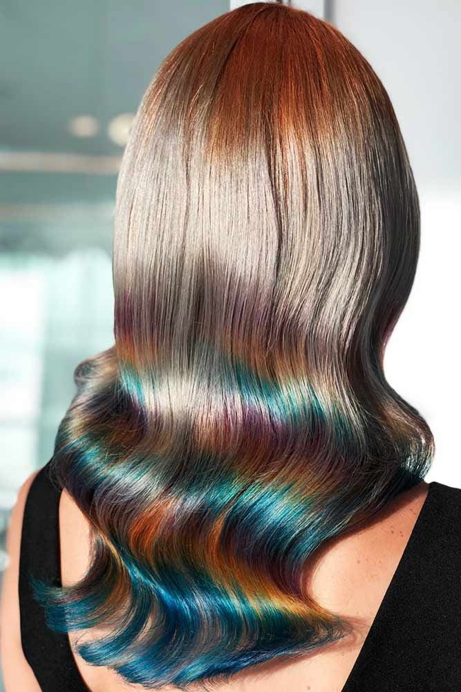 Ocean Blue Holographic #holographichair #bluehair