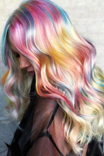 Pink & Yellow Accents #holographichair