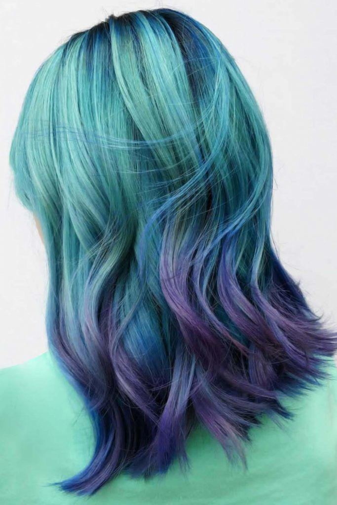 Northern Lights Ombre #holographichair