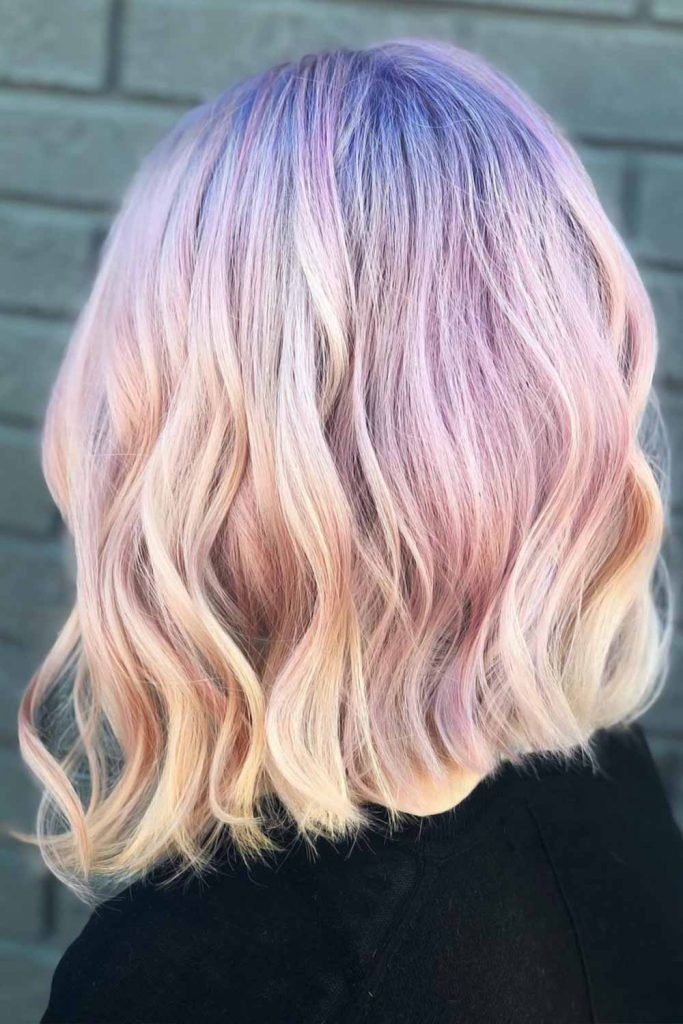 Opalescent Effect Bob #holographichair