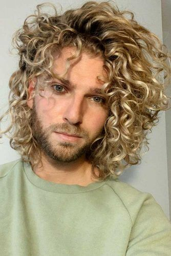 Large Curls #jewfrohairstyles #menhairstyles
