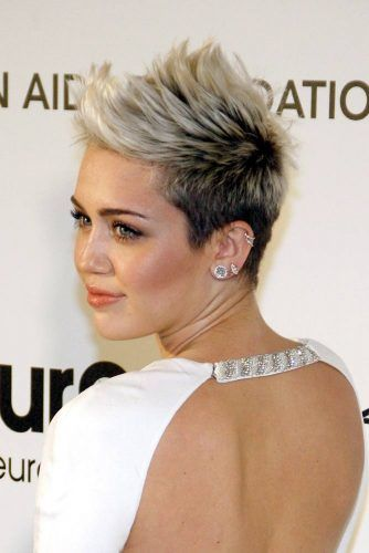Edgy Mohawk #mileycyrus #shorthair #hairstyles