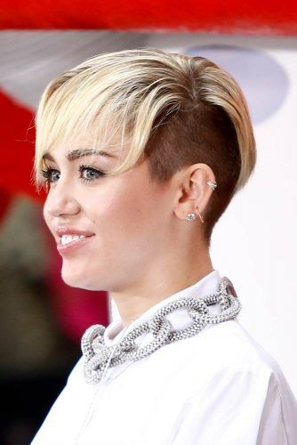 Long Pixie With Undercut #mileycyrus #shorthair #hairstyles