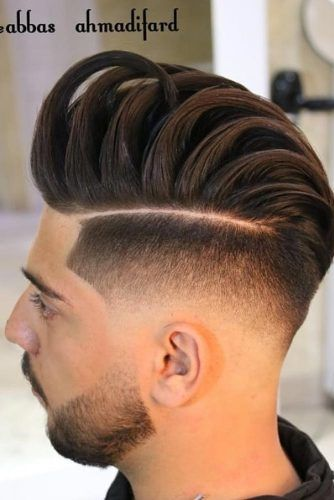 Mohawk Fade With Hard Part #mohawkfade #fadehaircut #mohawk #menhaircuts #haircuts