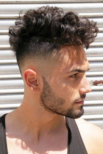 Mid Length Curly Mohawk #mohawkfade #fadehaircut #mohawk #menhaircuts #haircuts