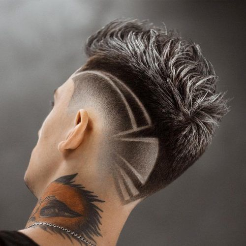 Two Toned Mohawk With A Side Design #mohawkfade #fadehaircut #mohawk #menhaircuts #haircuts