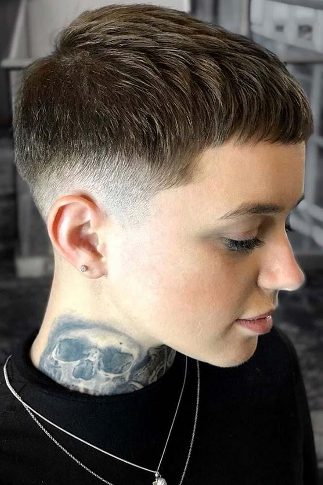 Classy Crop & Fade #androgynoushaircuts #haircuts #shorthaircuts