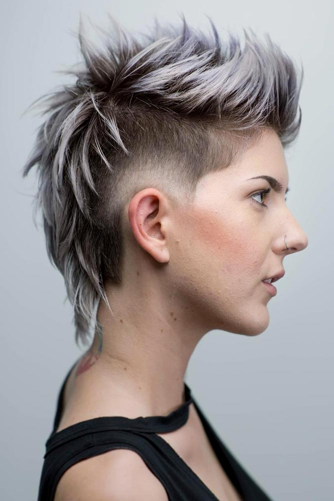 Mohawk With Mullet #androgynoushaircuts #haircuts #shorthaircuts