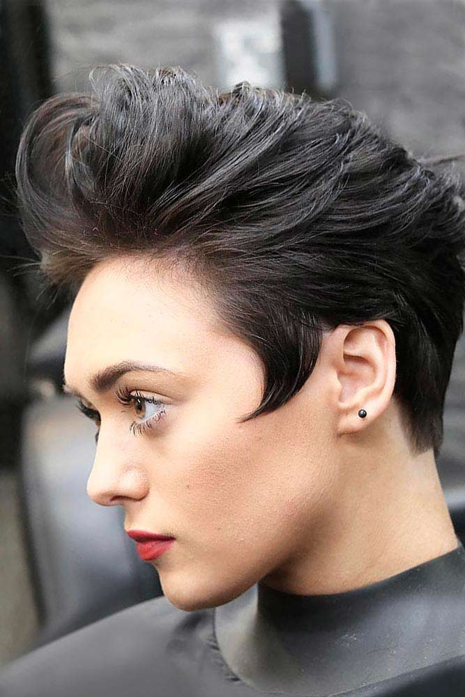Pompadour #androgynoushaircuts #haircuts #shorthaircuts