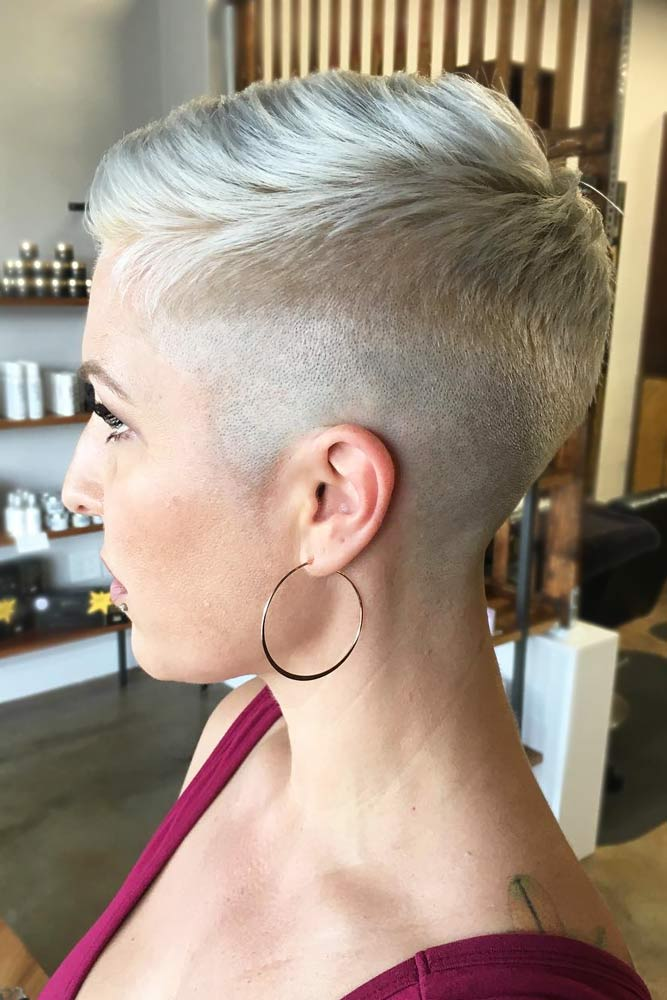 Sleek Comb Over #androgynoushaircuts #haircuts #shorthaircuts