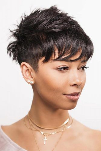 Textured Top With Buzzed Sides #androgynoushaircuts #haircuts #shorthaircuts