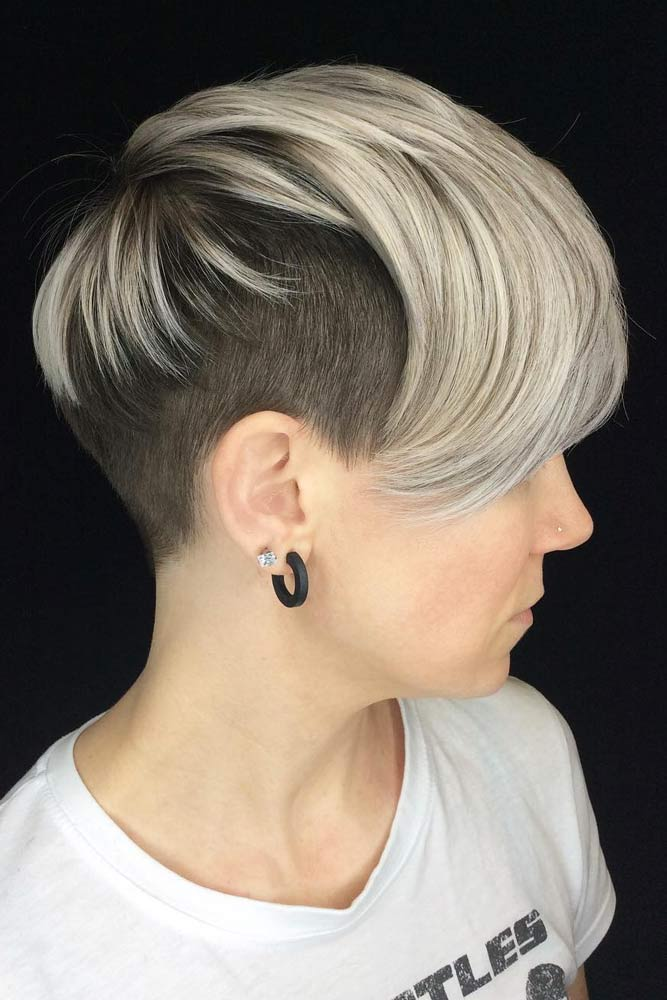 Androgynous Cut With Undercut #androgynoushaircuts #haircuts #shorthaircuts