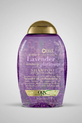 OGX Hydrate & Color Reviving Lavender Platinum Shampoo #purpleshampoo #shampoo #hairproducts