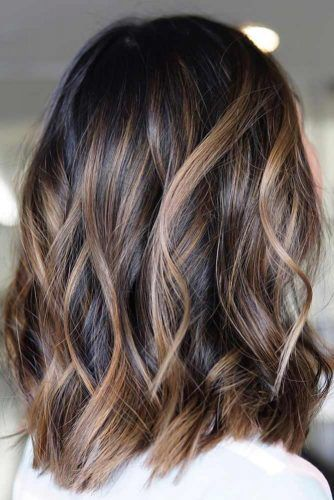 Cold Toned Brown Highlights #blackhair #highlights
