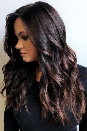 Jet Black Hair With Highlights #blackhair #highlights