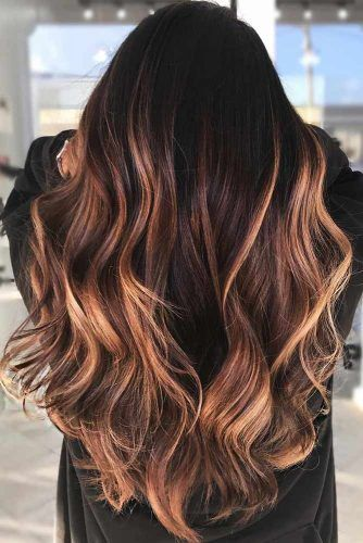 Reddish Highlights #brunette #highlights