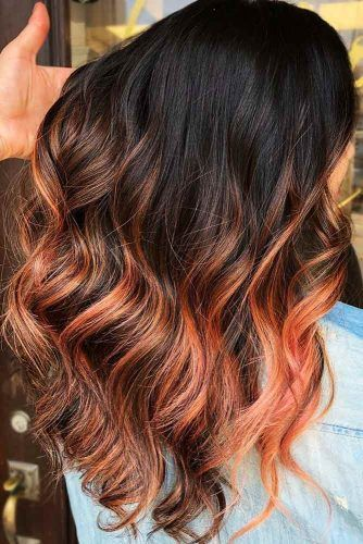 Rosy Orange #brunette #highlights #redhair