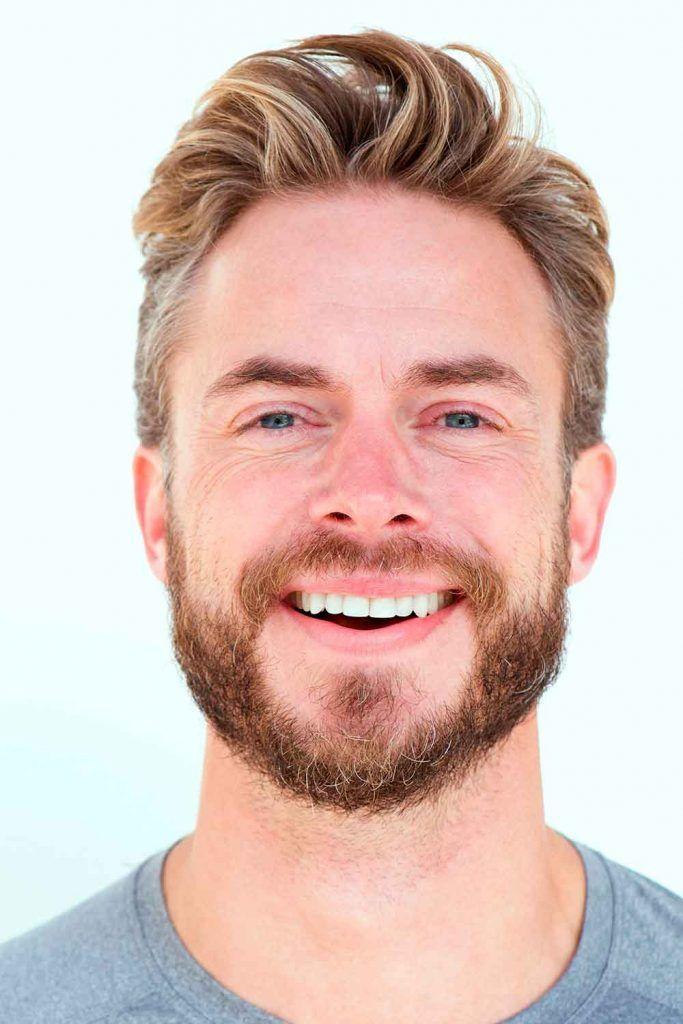 Blonde Textured Quiff With Beard