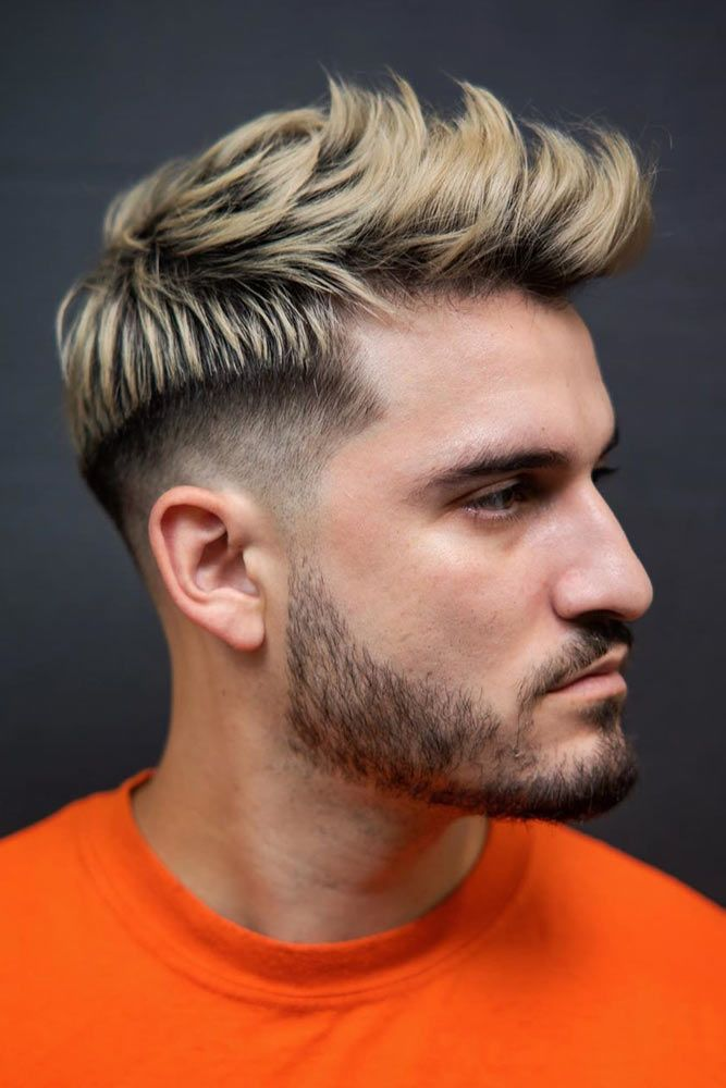Blonde Textured Quiff With Beard #quiff #quiffhaistyle #hairstyles #haircuts