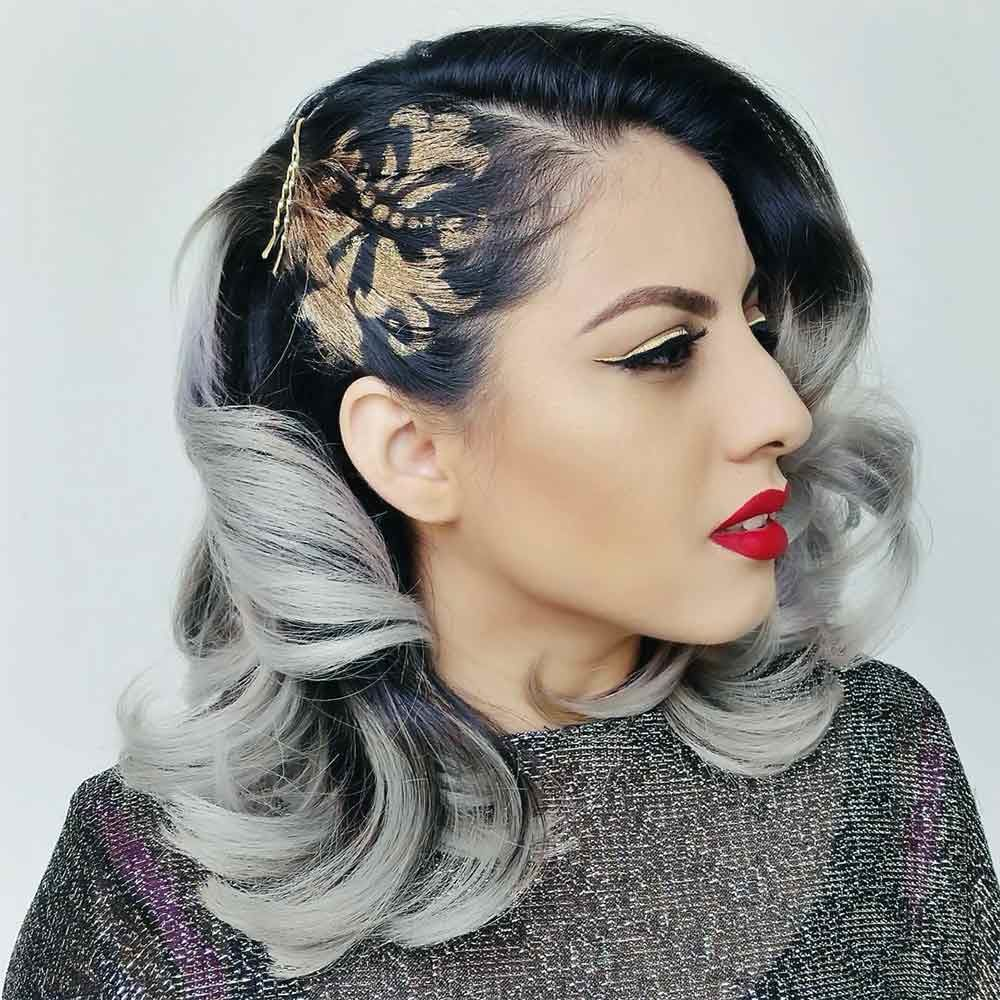Side Waves With Hair Pins #saltandpepperhair
