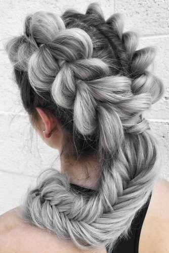 Pull-Through Braids #saltandpepperhair #braids #ponytail