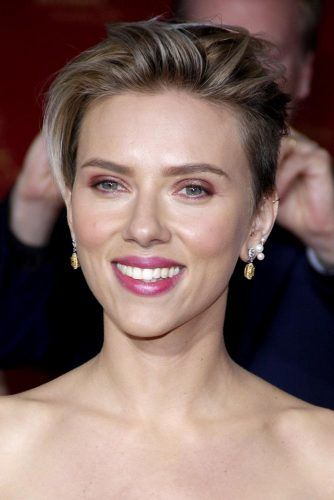 Long Pixie With Undercut #scarlettjohansson #shorthair #hairstyles