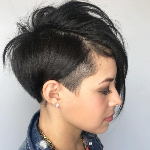 Undercut Inspired Asymmetrical Wedge #wedgehaircut #haircuts