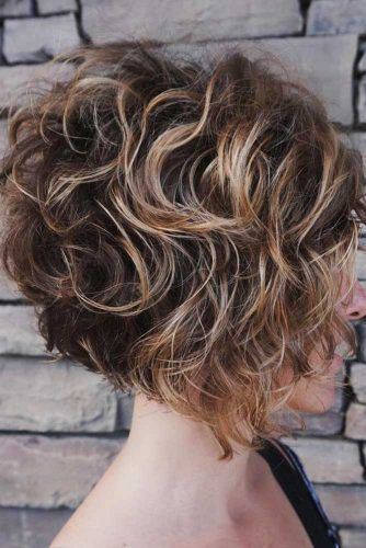 Curly Wedge #wedgehaircut #haircuts