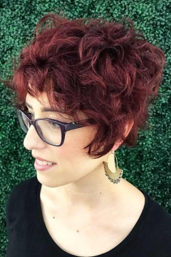 Curly Short Wedge Cut #wedgehaircut #haircuts
