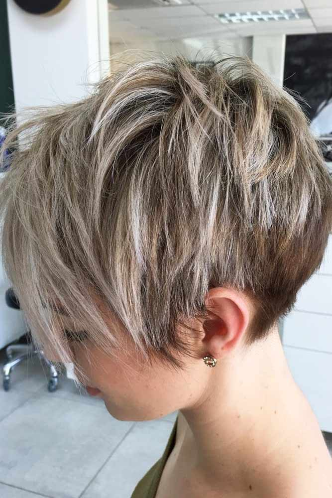 Short Messy Wedge Cut #wedgehaircut #haircuts
