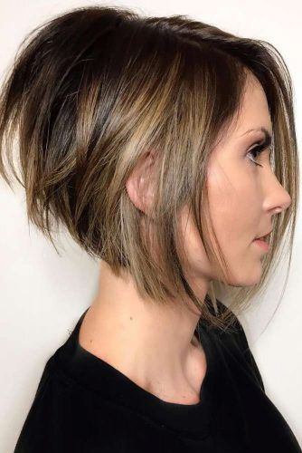 Side Parted Wedge #wedgehaircut #haircuts