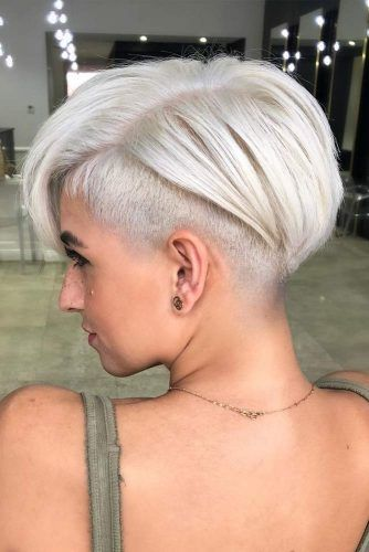 Wedge Haircut With Shaved Sides #wedgehaircut #haircuts