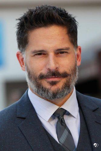 Gray Beard And Spiky Hairstyle #beard