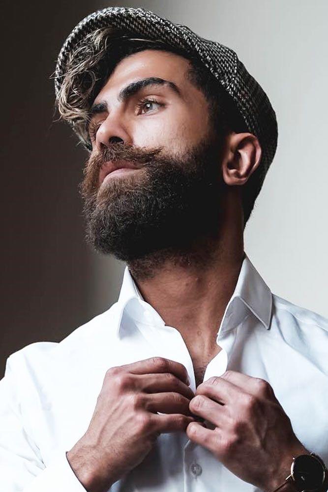 Trimmed Beard with Long Mustache #beard