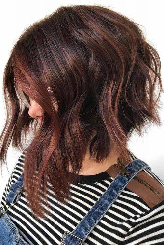 A line Choppy Bob For Thick Hair #choppybob #bobhairstyles #bobhaircuts #hairstyles #haircuts