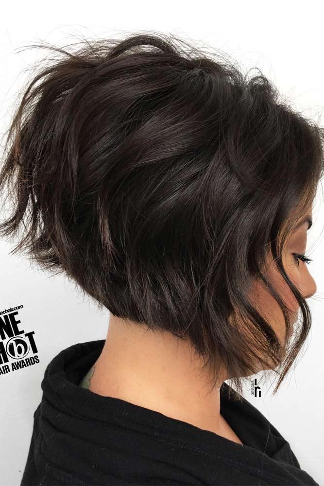 Choppy A line Bob #choppybob #bobhairstyles #bobhaircuts #hairstyles #haircuts