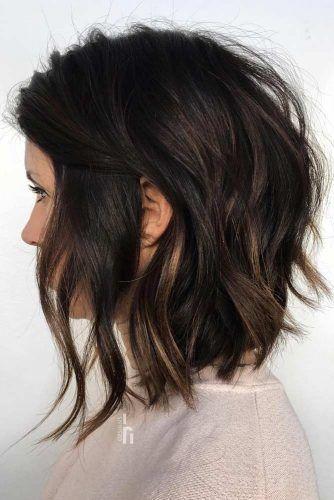 Inverted Choppy Lob #choppybob #bobhairstyles #bobhaircuts #hairstyles #haircuts