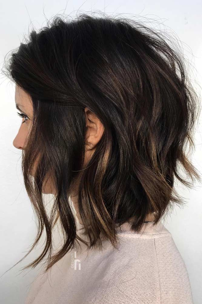 Inverted Choppy Lob #choppybob #bobhairstyles #bobhaircuts #hairstyles #haircuts