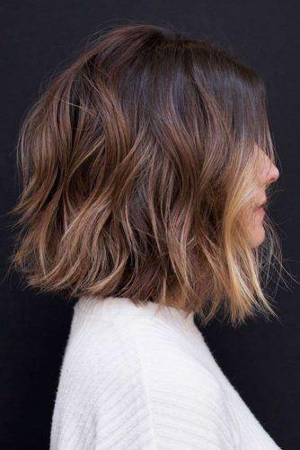 Layered & Choppy Blunt Lob #choppybob #bobhairstyles #bobhaircuts #hairstyles #haircuts