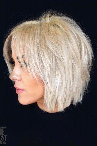 Blunt Shag With Bangs #choppybob #bobhairstyles #bobhaircuts #hairstyles #haircuts