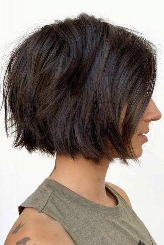 Brown Textured Bob #choppybob #bobhairstyles #bobhaircuts #hairstyles #haircuts