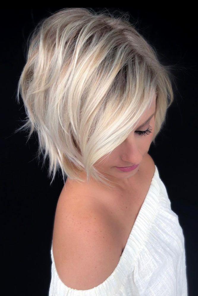 Side Parted Choppy Bob #choppybob #bobhairstyles #bobhaircuts #hairstyles #haircuts