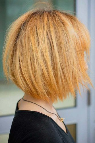 Choppy Bob With Layered Bangs  #choppybob #bobhairstyles #bobhaircuts #hairstyles #haircuts