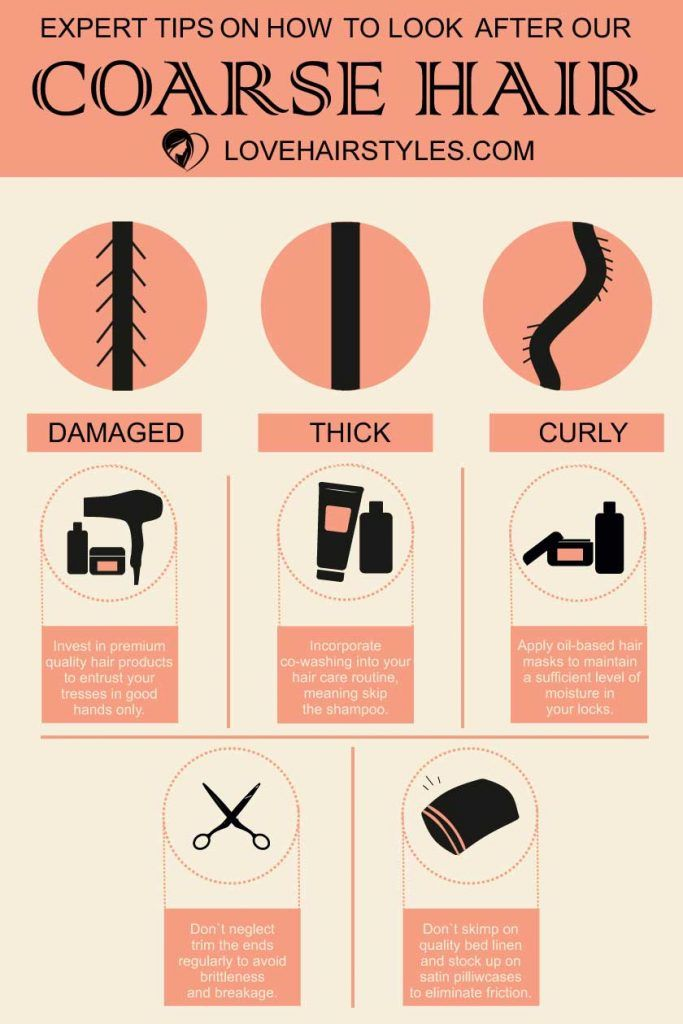 What Is Coarse Hair and How to Deal With It: Top Tip Infographic