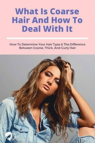 How To Determine Your Hair Type & The Difference Between Coarse, Thick, And Curly Hair #coarsehair