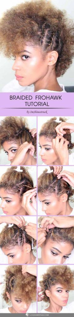 Braided Frohawk On Natural Hair #frohawk #frohawkhairstyle #hairstyles