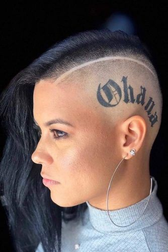 Badass Side Shave And Head Tattoo #halfshavedhead #hairstyles #undercut